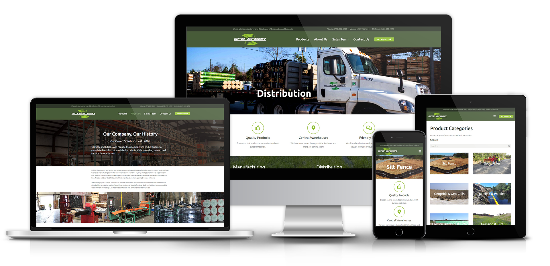 GroGreen Solutions Website Mockup