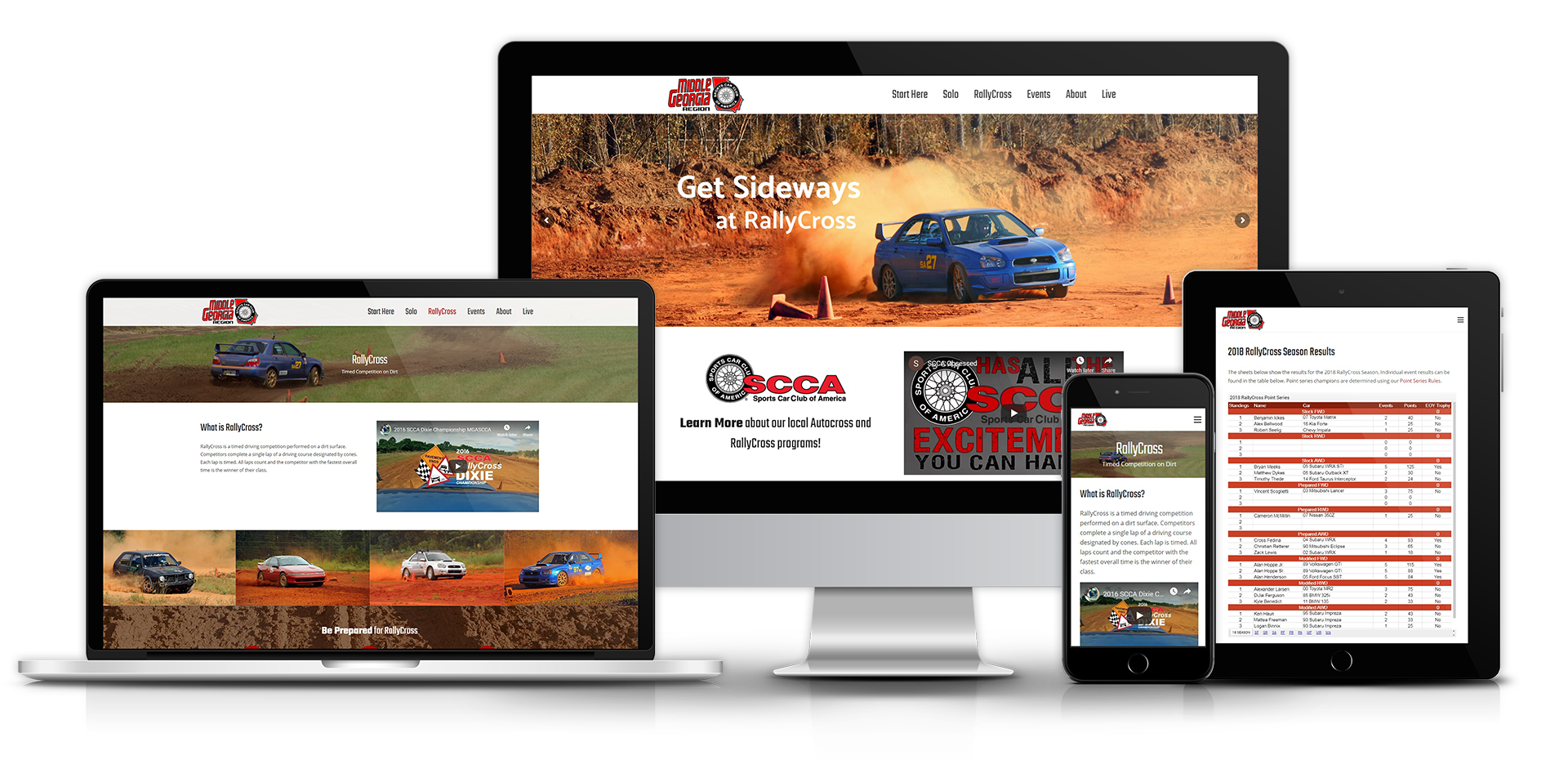 Middle Georgia SCCA Website Showcase