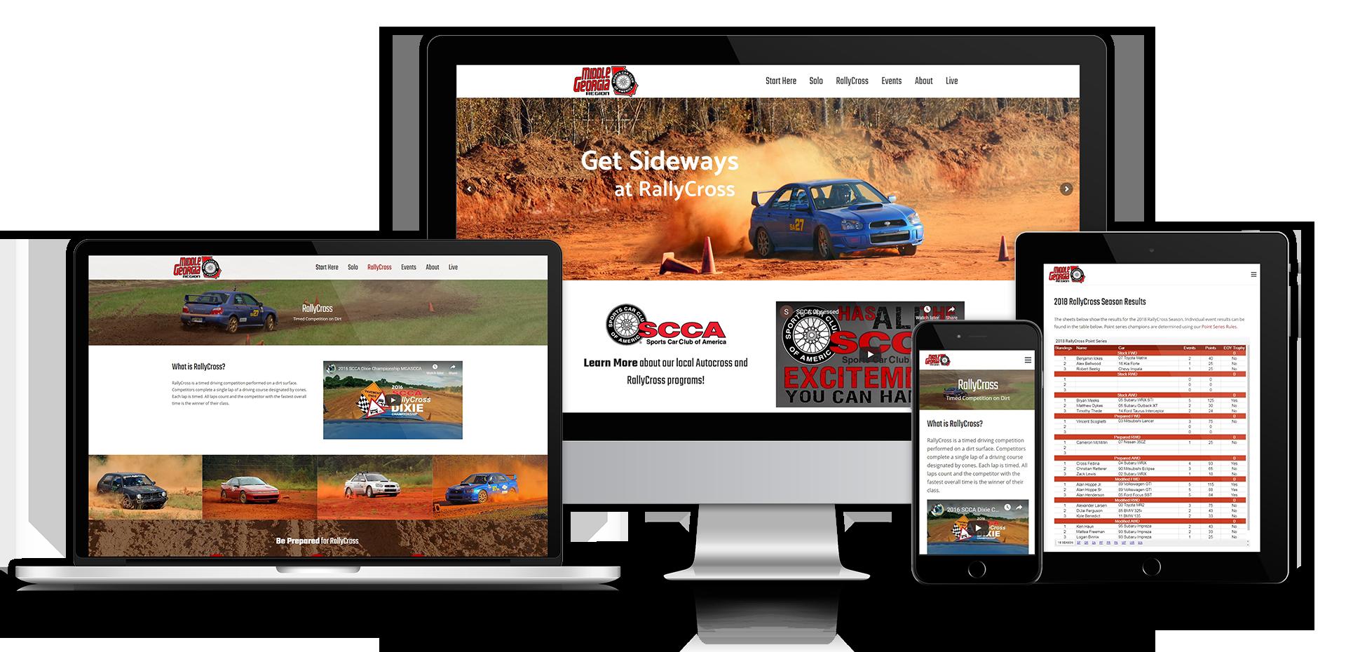 Middle Georgia SCCA Website Showcase